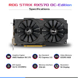 ASUS ROG Strix RX 570 O8G DDR5 8GB 256-Bit Gaming Graphics Card
