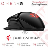 HP OMEN Photon Wireless Gaming Mouse with Qi Wireless Charging & Custom RGB Lighting