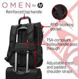 HP OMEN X Transceptor Water Resistant 17 inch Gaming Laptop Backpack