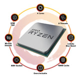 AMD Ryzen 3 3100  Desktop Processor 4 Cores 8 Threads 18MB Cache PCIe 4.0