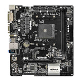 ASRock A320M-HDV AMD AM4 MicroATX SATA3 Ultra M.2 and Full Spike Protection Motherboard