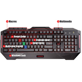 ASUS Cerberus MKII multi-color Backlit Gaming Keyboard with Splash Proof Design - The Peripheral Store | TPS
