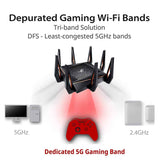 ASUS GT-AX11000 ROG Rapture Tri-band WiFi Gaming Router with a Quad-Core Processor
