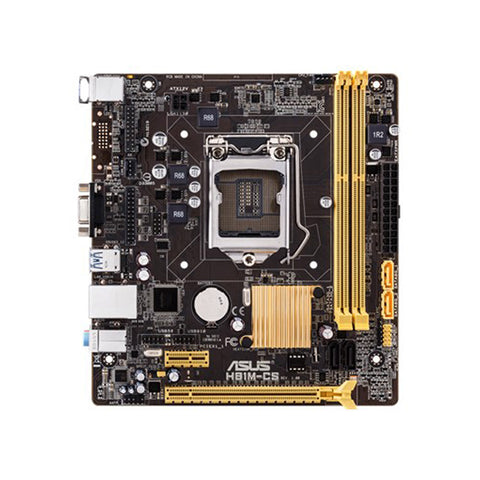 ASUS H81M-CS micro-ATX motherboard with high stability and durability, with easy-to-use UEFI BIOS and ASUS AI Suite 3 tuning utility.