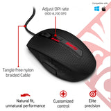 HP OMEN X9000 Wired 8200DPI 6-Button Gaming Mouse with Elite Precision and Customized Control (J6N88AA)