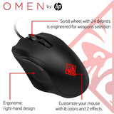 HP OMEN 400 Gaming Mouse with 6 Customizable Buttons 5000DPI & 10M clicks Durability