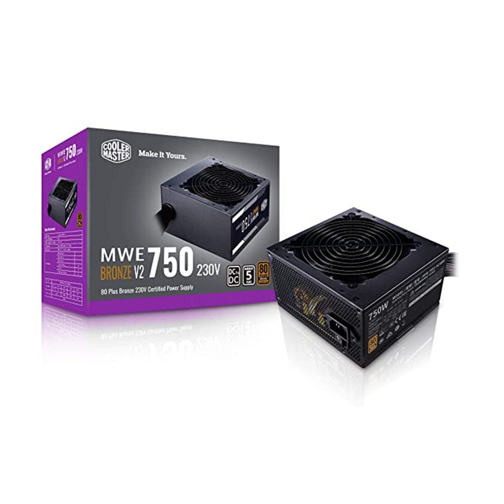 Cooler Master MWE 750W 80 Plus Bronze SMPS with 120mm HDB Fan
