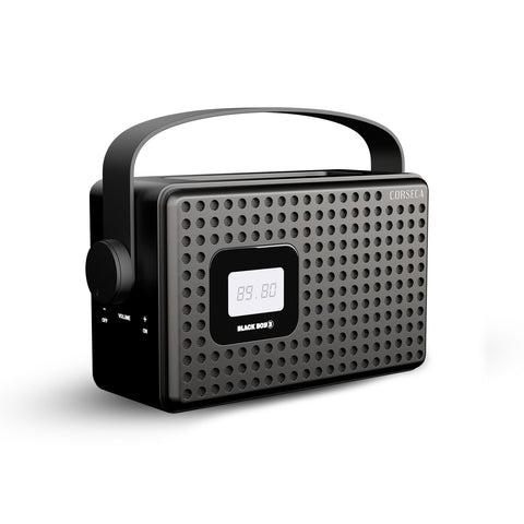 Corseca Black Boy 3 Premium Wireless Bluetooth Speaker with FM Radio Customizable Alarm AUX and USB Port