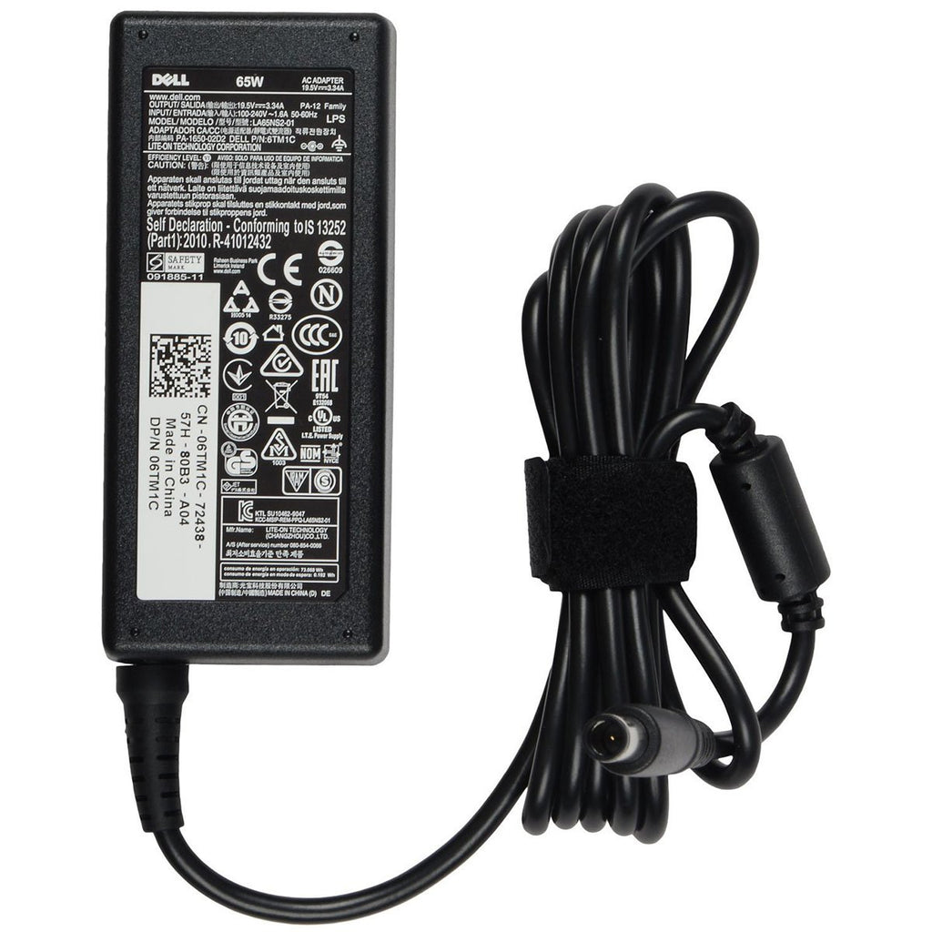 Dell Original 65W 19.5V 7.4mm Pin Laptop Charger Adapter for Latitude XFR XT2