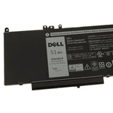 Dell Original 6980mAh 7.4V 51WHr 4-Cell Laptop Battery for Latitude E5450