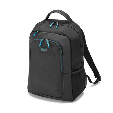 Dicota 14-15.6 Inch Black Polyester Spin Lightweight Sporty Backpack for Laptops
