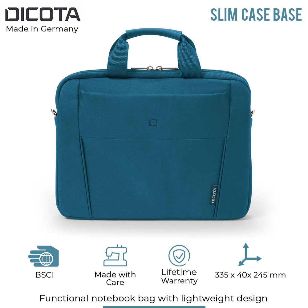 Dicota Executive slim 11 to 12.5 Inch Briefcase Slipcase with Shoulder Strap