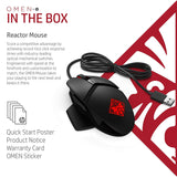 HP OMEN Reactor 16000 DPI RGB Gaming Mouse with Optical Mechanical Switch (2VP02AA)