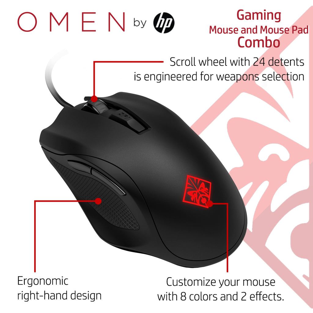 HP Gaming Combo OMEN 400 Mouse and Mouse Pad   TPS