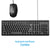HP 100 Wired USB Keyboard and X500 Mouse Combo