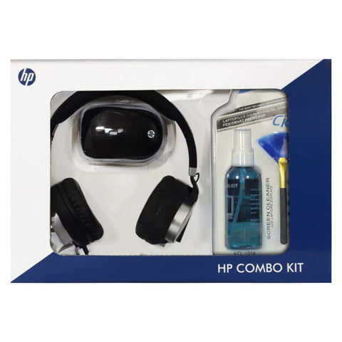HP Laptop Accessories Combo Kit of Wireless Mouse Headphone with mic 15.4 inch Laptop Sleeve Mouse pad and Laptop Cleaning Kit