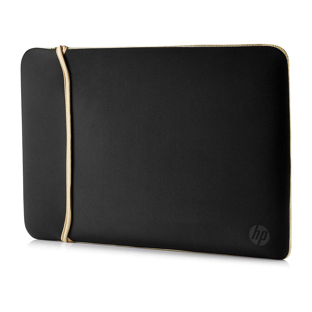 HP Neoprene Durable Zipperless Reversible Sleeve for 14-inch Laptops and Notebooks (Black/Gold)