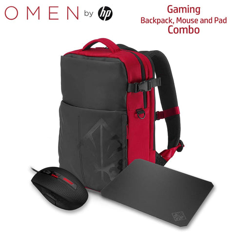 HP OMEN Gaming Combo - Mouse X9000, Mousepad 200 & Armored Backpack