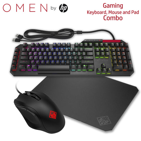 HP OMEN Gaming Combo - Sequencer Keyboard, Mouse & Mousepad