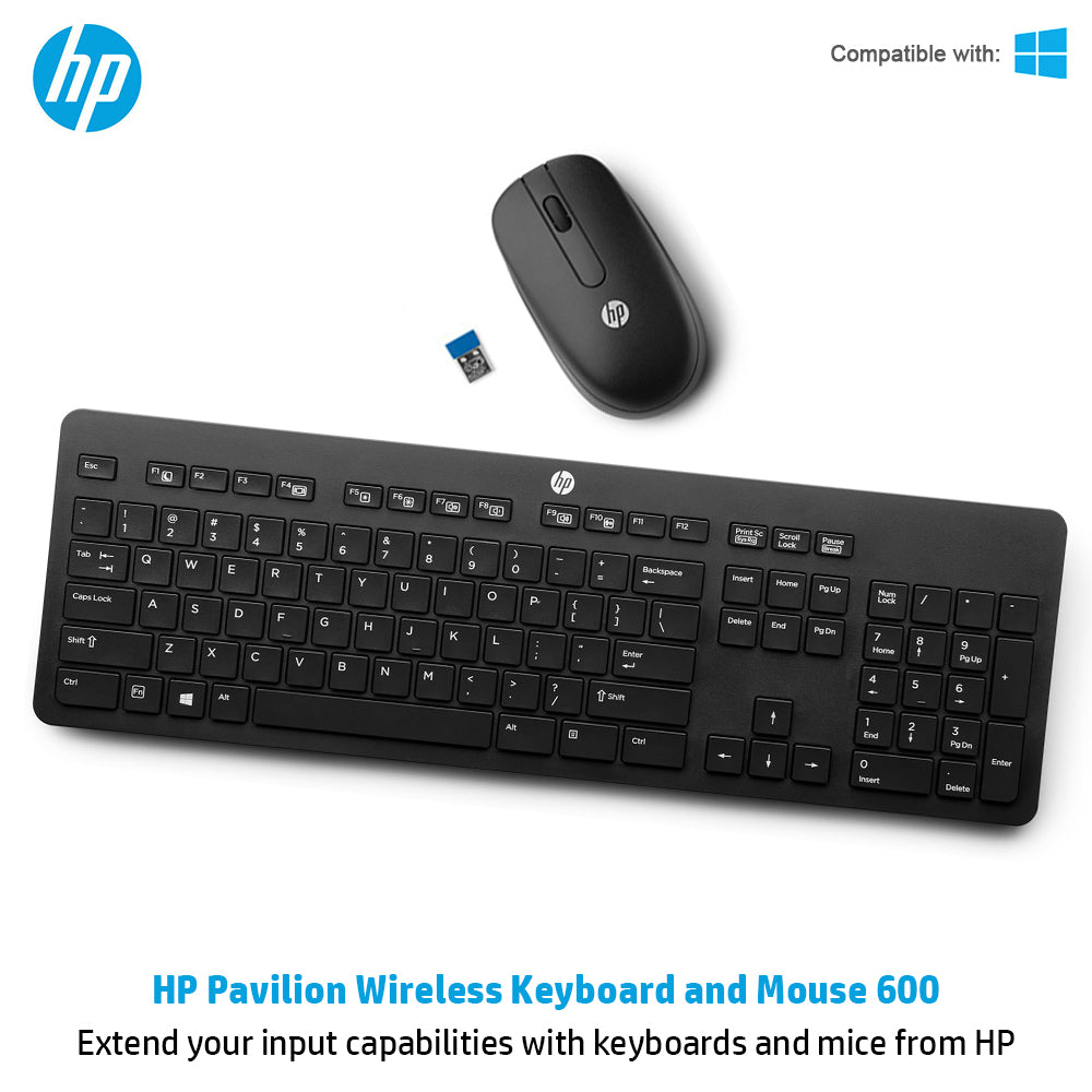 9bd900d74f1 HP Pavilion 600 Wireless Keyboard and Mouse Combo | Lowest Price ...