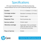 HP Care Pack 2 Years Additional Warranty with ADP for HP 14 15 & Chromebook Laptops