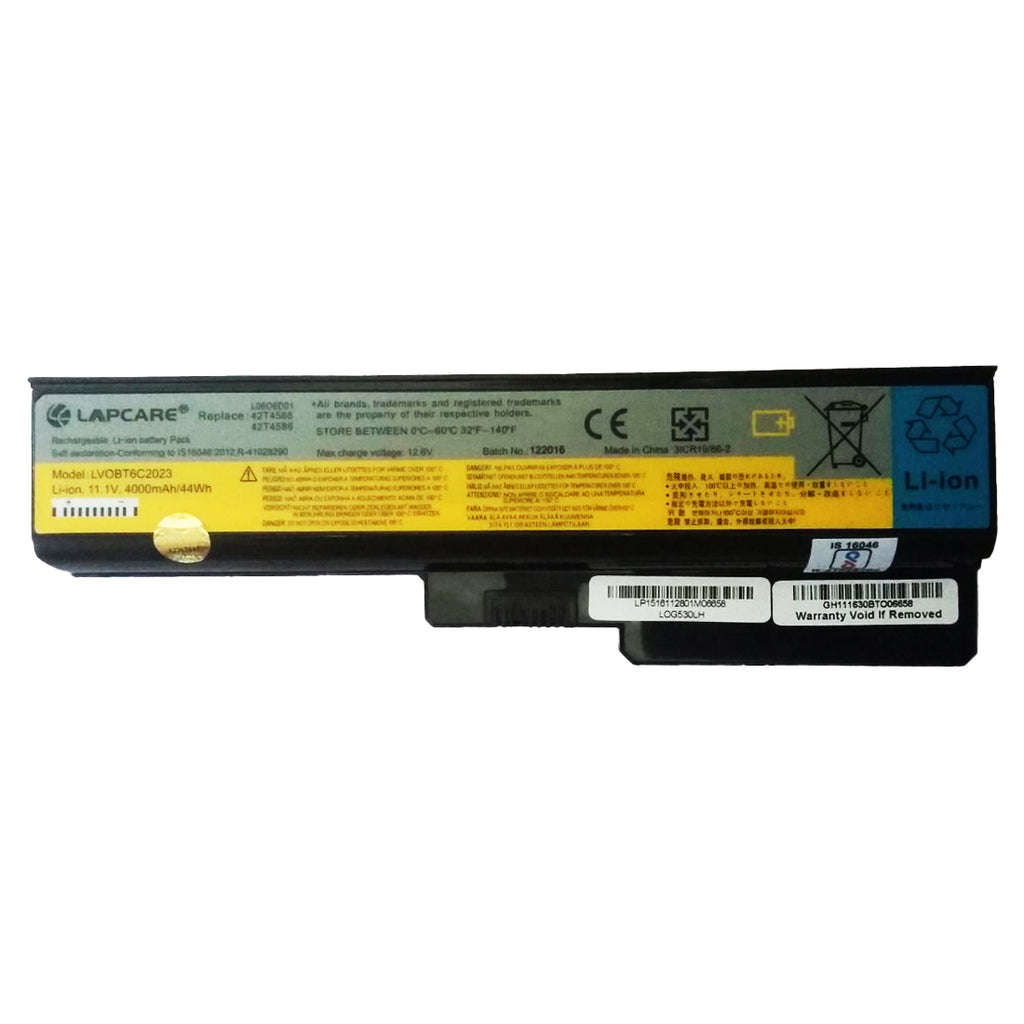 Lapcare 4000mAh 11.1V 6 Cell Laptop Battery Compatible for Lenovo G430 G560