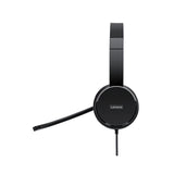 Lenovo 100 Stereo USB Over Ear Headphone with Adjustable Headband and Mic