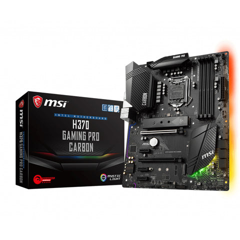 MSI H370 GAMING PRO CARBON LGA 1151 ATX Motherboard with USB C and Multi-GPU Support