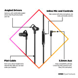 OMEN Dyad Earbuds Wired Headphone with 10mm Dynamic Driver In-Line Volume Controls