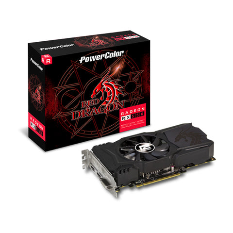 PowerColor Red Dragon Radeon RX 550 4GB 128-Bit GDDR5 Graphics Card