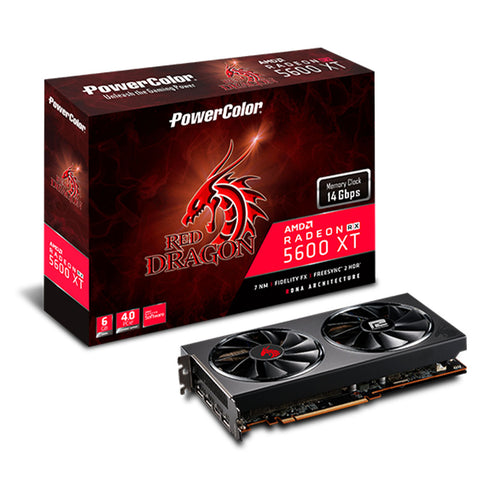 PowerColor Red Dragon Radeon RX5600 XT 6GB GDDR6 192-bit Graphics Card
