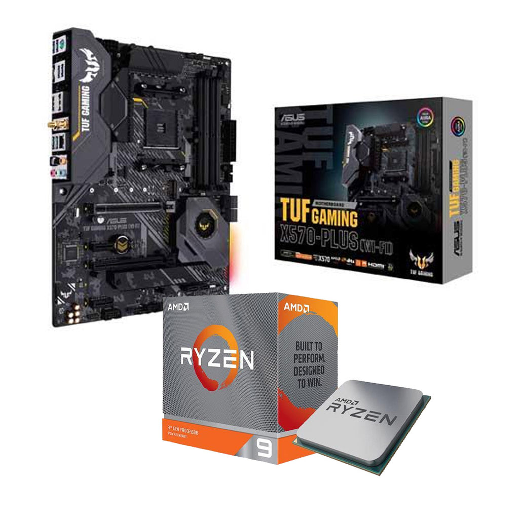 AMD Ryzen 9 3950X Desktop Processor and ASUS AM4 TUF Gaming X570-Plus (Wi-Fi) ATX Motherboard Combo