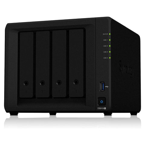 Synology Diskstation DS918+ 4 Bay Quad core 4 GB DDR3L NAS Device