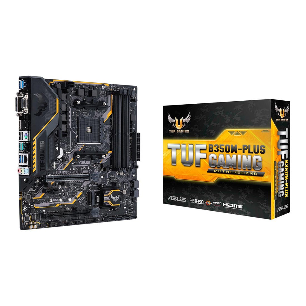 ASUS TUF B350M Plus Gaming AMD AM4 Micro-ATX Motherboard with USB 3.1 M.2 Storage