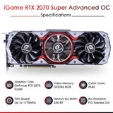 Colorful iGame GeForce RTX 2070 Super Advanced OC 8GB DDR6 Gaming Graphics Card