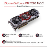 Colorful iGame GeForce RTX 2080 Ti Advanced OC-V 11GB DDR6 Gaming Graphics Card