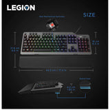 Lenovo Legion K500 Wired Programmable Mechanical RGB Gaming Keyboard with Anti Ghosting and Key Rollover (Black)