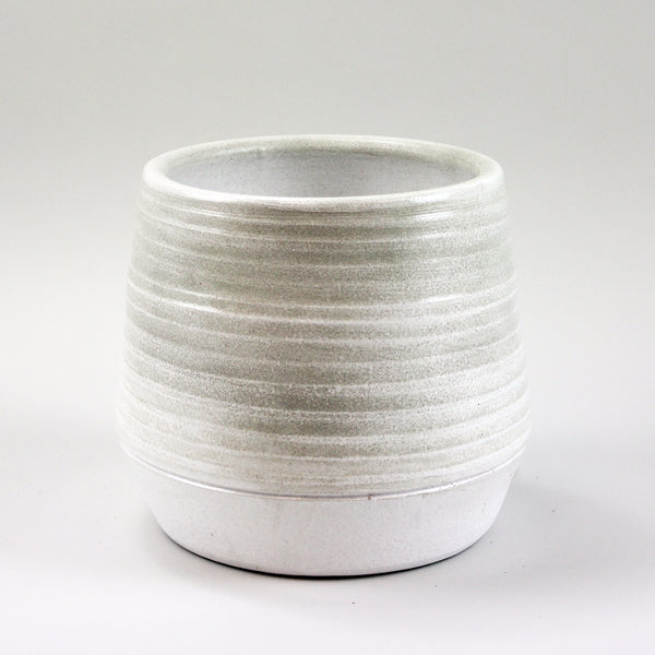 Concentric White Pot