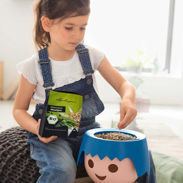 Grow Your Own Plant Head Kit | Self-Watering Playmobil Head Pot and Seed Set