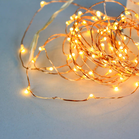 Set of Copper Fairy Lights (100 Bulb)