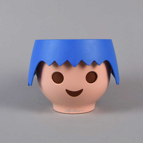Plant Head Pot in Ocean Blue | Self-Watering Playmobil Head Pot