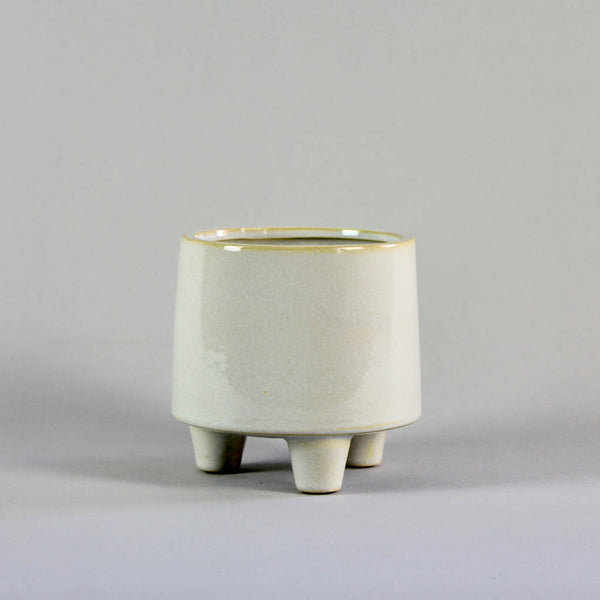 Troika White Pot Small