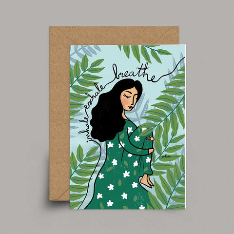 Breathe - A6 Card | Sakina Original Card