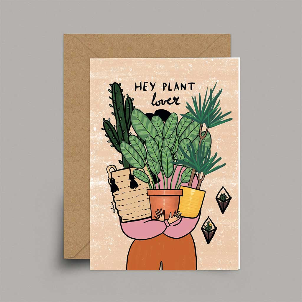 Hey Plant Lover - A6 Card | Sakina Original Card
