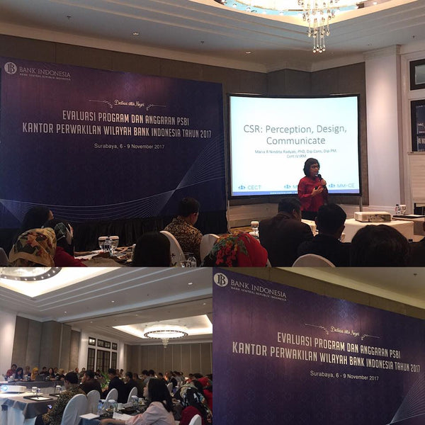CSR: Perception, Design and Communicate for Bank Indonesia