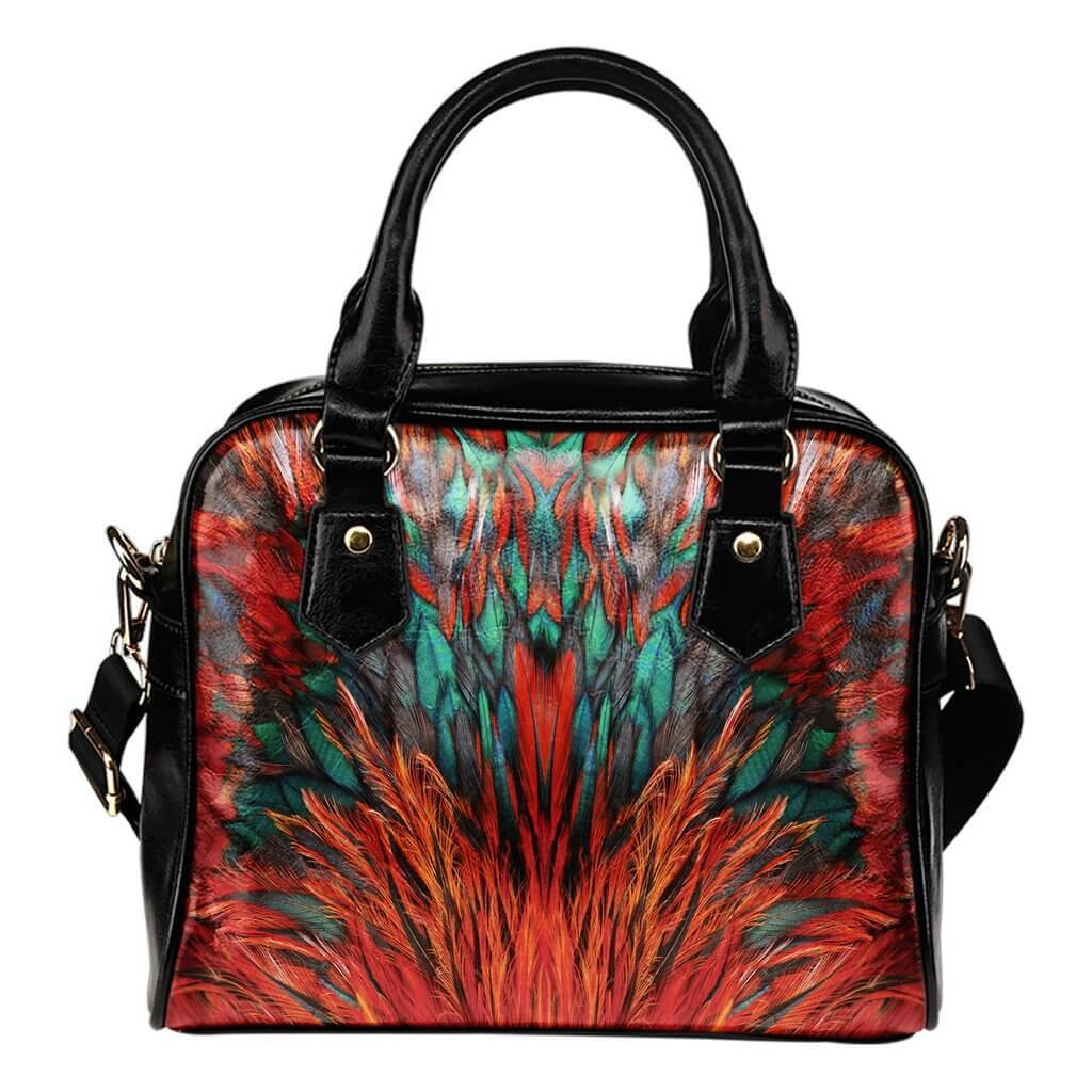Bags - Flame Feathers Shoulder Hand Bag