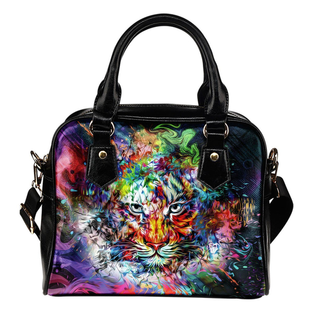 Bags - Wild Tiger Shoulder Handbag