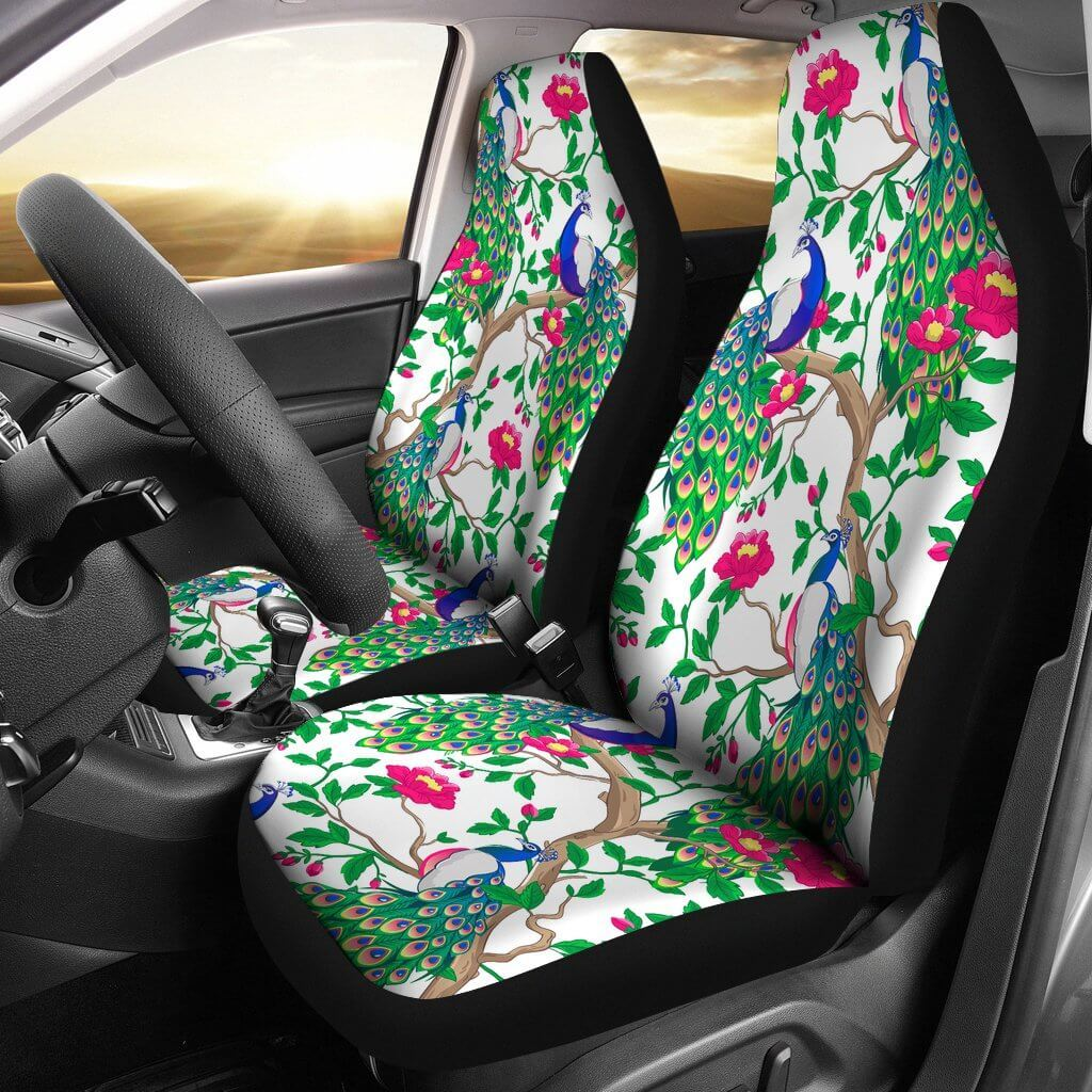 Beautiful Peacock Car Seat Covers Your Amazing Design