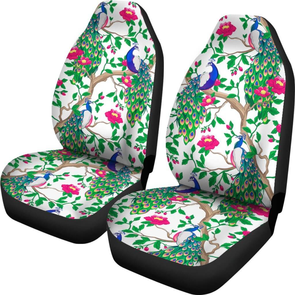 Beautiful Peacock Car Seat Covers