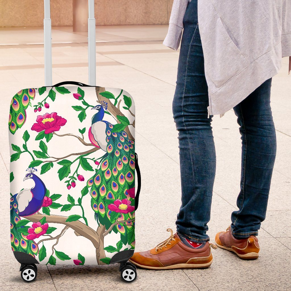 Beautiful Peacock Luggage Covers